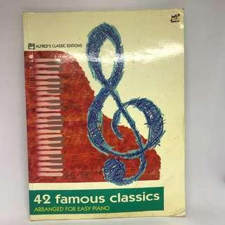 Alfred's Classical Editions 42 Famous Classics Arranged for Easy Piano