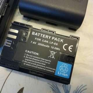 🆕 High Power Lp-e6 Battery for Canon
