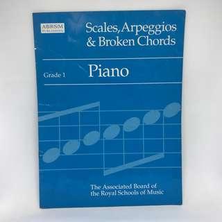 ABRSM Piano Grade 1 Scales, Arpeggios & Broken Chords