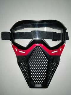 USED Nerf Rival Face Mask Red Hasbro Nerf Rival TRU