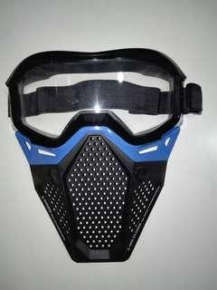 USED Nerf Rival Face Mask Blue Hasbro Nerf Rival TRU