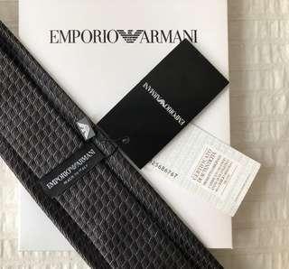 BNWT Authentic Emporio Armani Silk Tie New with Tag Geometric Pattern