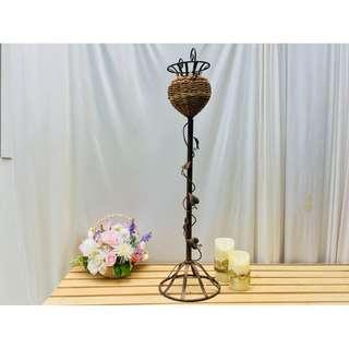 南洋風燭台式藤編高腳花架 花藝婚慶婚禮裝飾 攝影櫥窗道具擺件 299