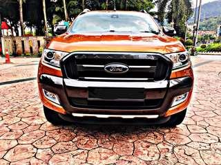 SAMBUNG BAYAR/CONTINUE LOAN  FORD RANGER WILDTRAK AUTO 3.2 YEAR 2017 MONTHLY RM 1670 BALANCE 8 YEARS ROADTAX VALID MILEAGE LOW LEATHER SEAT TIPTOP CONDITION  DP KLIK wasap.my/60133524312/wildtrak