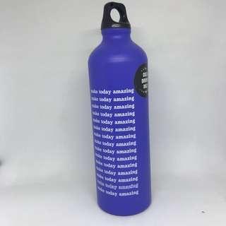 Typo Metal Water Bottle | make today amazing