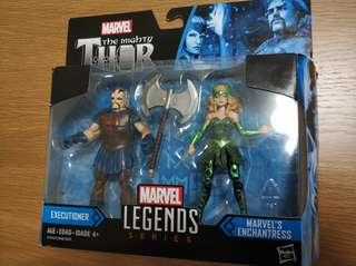 Hasbro Marvel Legends Enchantress and Executioner 3.75