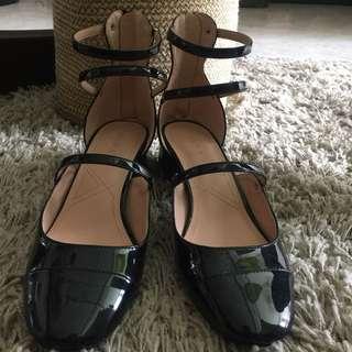 Zara TRF Strappy Black Heels