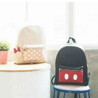 BNIB Mickey charm front pocket backpack