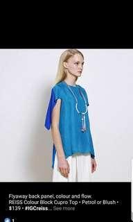 In good company trio colour cupro blouse