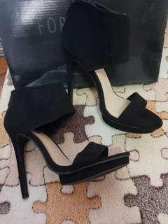 Forever21 Black Suede Heels