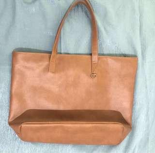Brown Korean Tote Bag