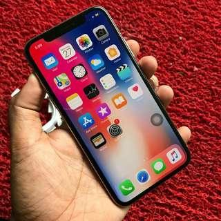 IPHONE X 64GB SILVER LL SET (FREE SIM)