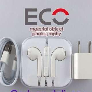 Charger And Earphones Bundle