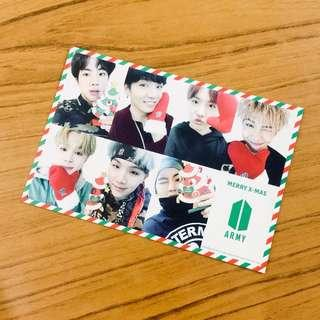 [wts] bts japan fanclub limited christmas postcard