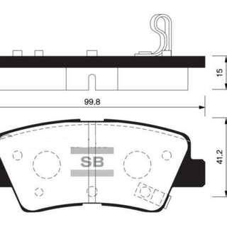 Hi-Q Sangsin rear brake pads SP1401 Hyundai Avante Elantra KIA Cerato