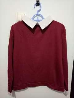 Formal Top / Oxford Top Maroon