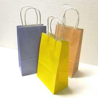 (S) Paper Carrier Bag, Twisted Paper Rope Handled ↪ Plain 🛍🛍 💱 $4.50 Each Packet - 10 Pieces