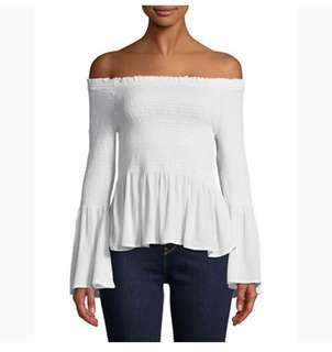 Lord & Taylor off-the-shoulder bell-sleeve top