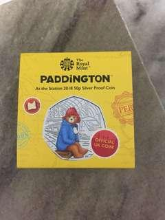 PADDINGTON BEAR 50p SILVER PROVE COIN