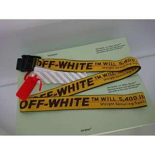 Off White Yellow Industrial Belt - Black Buckle