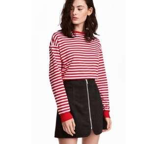 H&M A-line Zip Skirt