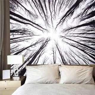 Wall Tapestry Mat & Fairy Lights Set