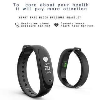 923. Allywit E26 waterproof heart rate Band Monitor Wristband Bracelet Wrist Smart Watch icluded with free red and pink strap