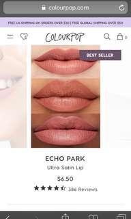 🚚 Colourpop Ultra Satin Lip Echo Park
