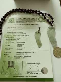 天然 A貨翡翠 有香港證書