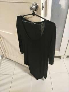 Black Plus Size Knitted Top