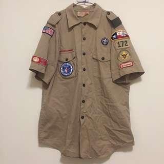 古著 美國軍裝襯衫