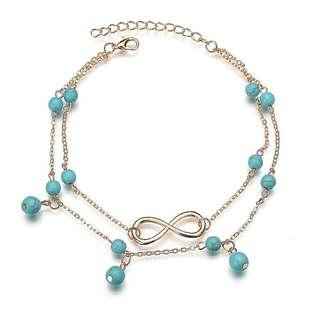 Bohemian infinity anklet