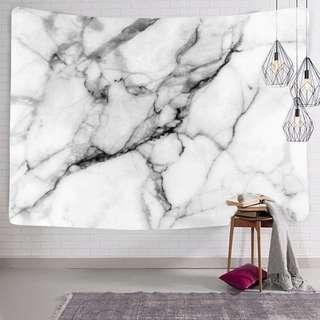 Marble Print Tapestry Mat & Fairy Lights Set