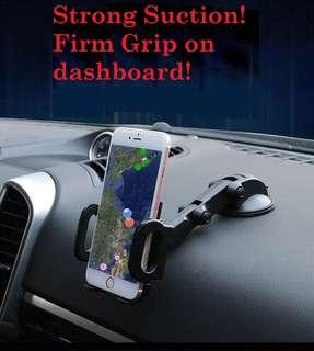 Strong Suction! Dashboard/ Windscreen Phone Holder