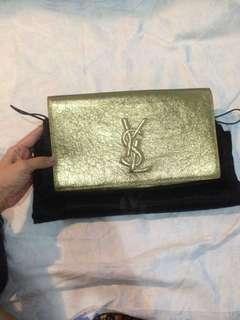 YSL Clutch Gold