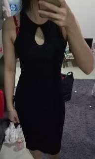 Black bodycon dress import bkk/dress/terusan