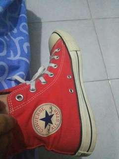 Converse red high