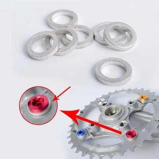 🆕! 1 X 1mm Chain Ring Screw Washer Aluminum MTB Spacer  #OK