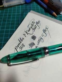 Penbbs 308 Demostrator Flex Nib Fountain Pen