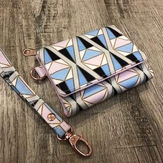 BN jujube Rose colored glass on the run wallet with wrist strap by happi hippo