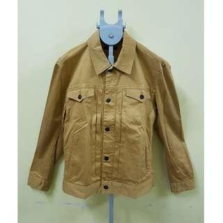 RAGEBLUE Brown Stretchable Denim Jacket, L. (Original)