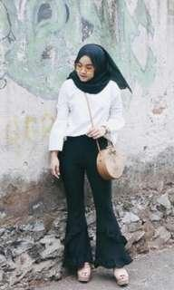 Cutbray pants 2 ruflle