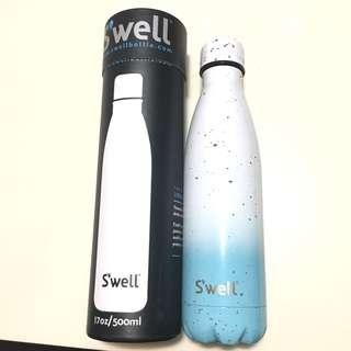 🦋美國 著名Swell 保暖保溫瓶 熱水壺 冷熱水樽 真空樽  Thermos Bottle 天空藍白 Sky blue bottle