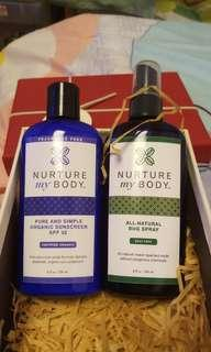 NURYURE MYBODY (ALL-NATURAL BUG SPRAY)  (PURE AND SIMPLE ORGANIC SUNSCREEN SPF 32)