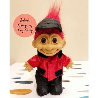 1980s VTG troll doll trolls 紅色頭髮 馬術師 醜娃 巨魔娃娃 幸運小子 古董玩具 絕版玩具