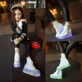 [NEW] [PO] PROMOTION SALES FOR MONTH OF OCT !! !!! Hurry pm for deal now !!! Super cool HIGH CUT LED shoes !!!! PM TO DEAL NOW!