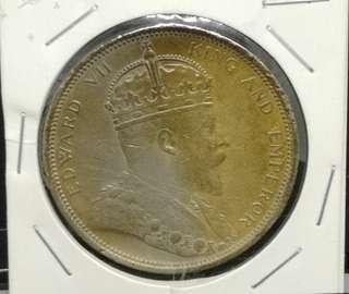 Straits Settlements 1904B $1 dollar