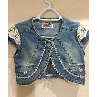 Girl's Denim Bolero Jacket