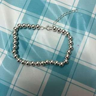 全新 純銀 珠珠 波子 手鍊