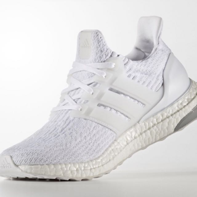 b3a8c0eaf9bc8 Adidas Ultra Boost 3.0 Triple White (UK 4)